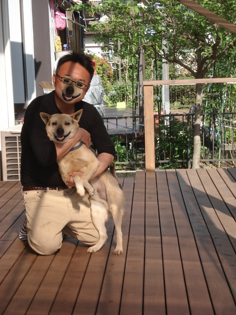 友人と愛犬