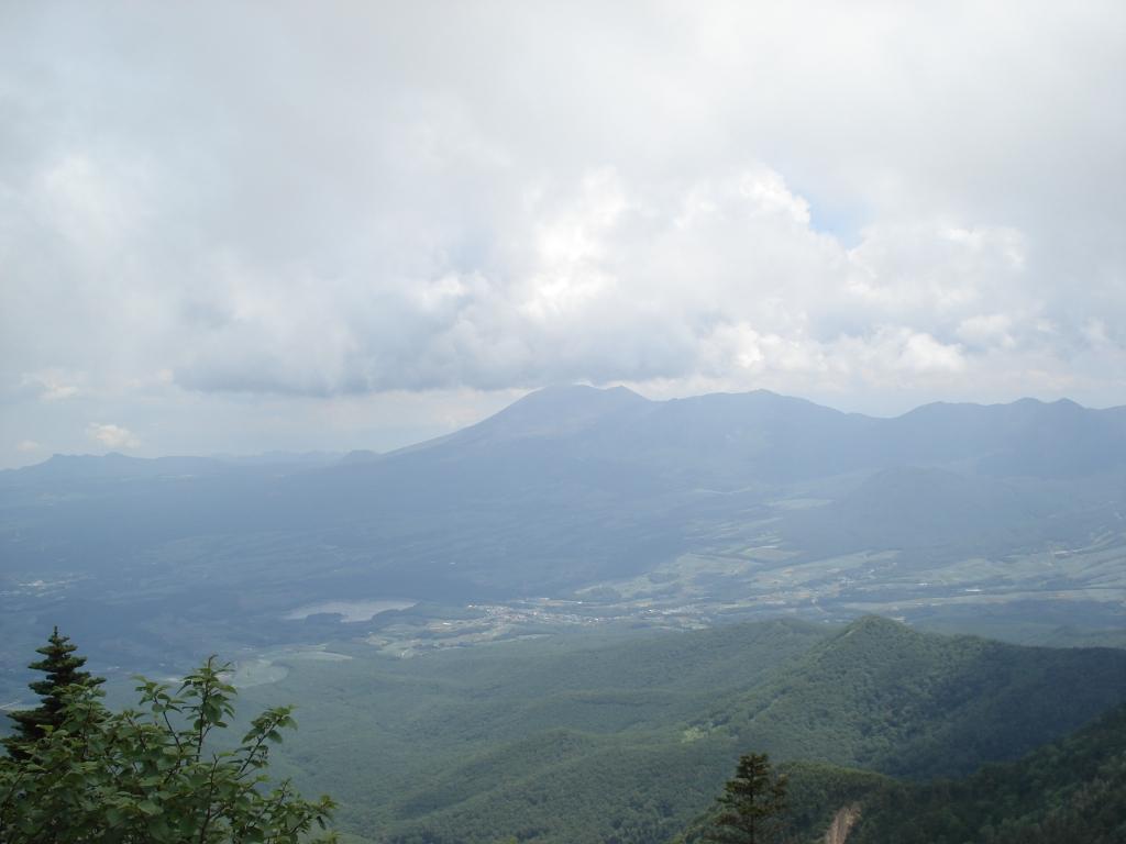 山頂からの浅間山