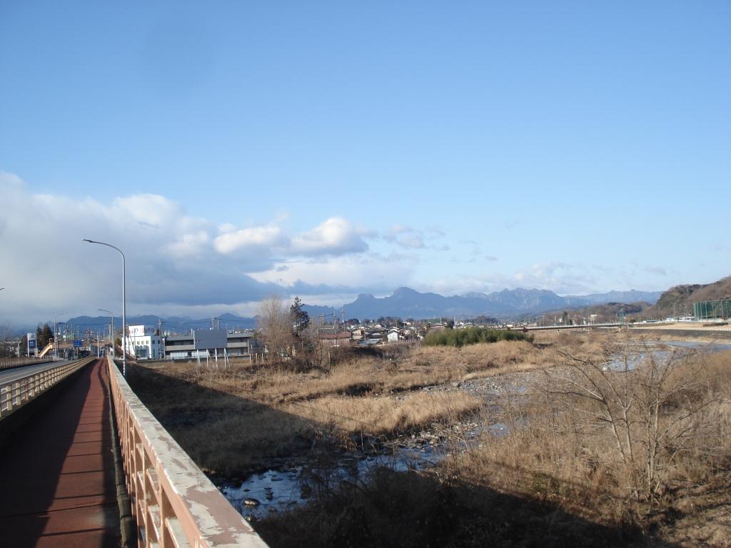 鷹巣橋から妙義山