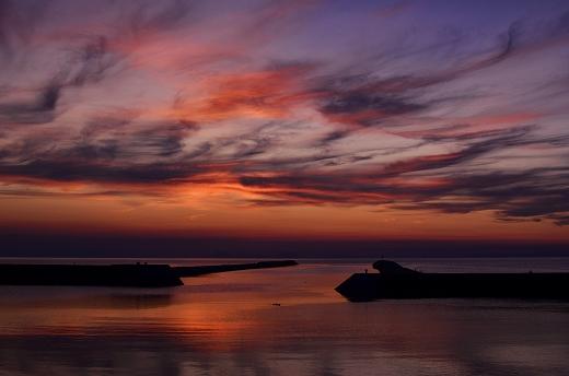 真玉海岸 夕日