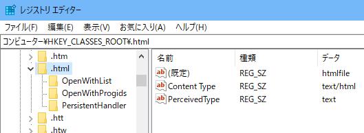 レジストリエディター .html