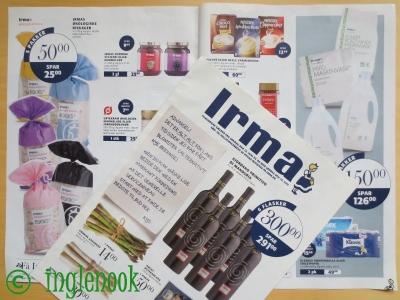 デンマークのスーパーマーケット、Irma イヤマ チラシ冊子