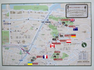 横浜山手西洋館 世界のクリスマス 2015 地図