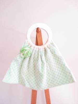 イギリス 手編みのバッグ