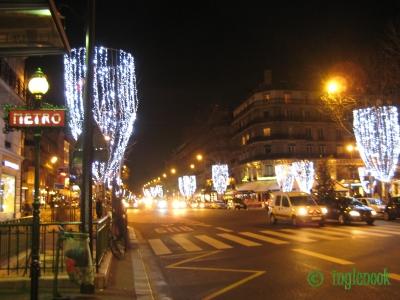 フランス パリのクリスマス イルミネーション