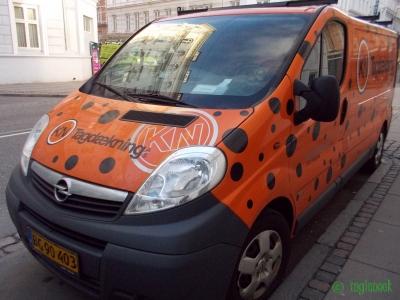 コペンハーゲンのてんとう虫のような車