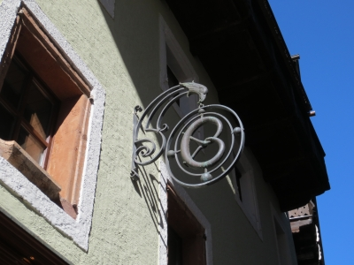 プレッツェル ザルツカンマーグートの鉄細工の看板