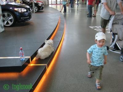 ドイツのまちぼう犬 BMW ワールド