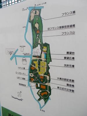 港の見える丘公園 マップ 地図