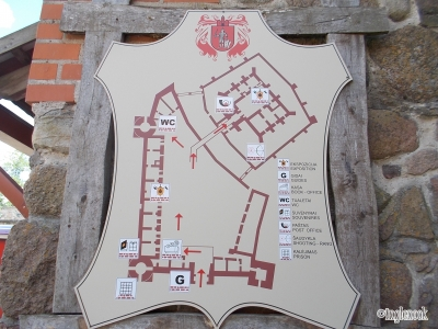 トゥラカイ城 案内図