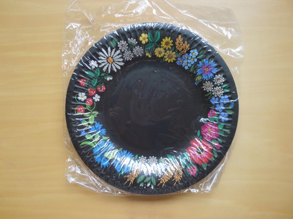 ペーパープレート フラワー 黒 エストニア 花