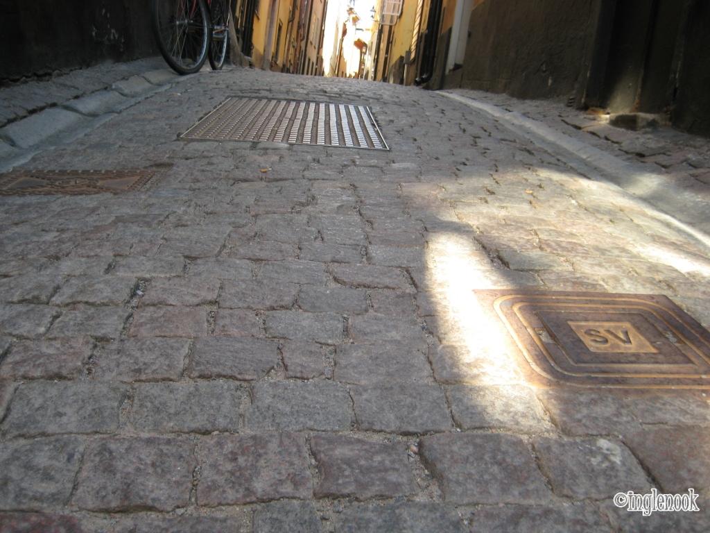 スウェーデン ストックホルム 旧市街 ガムラスタン 石畳