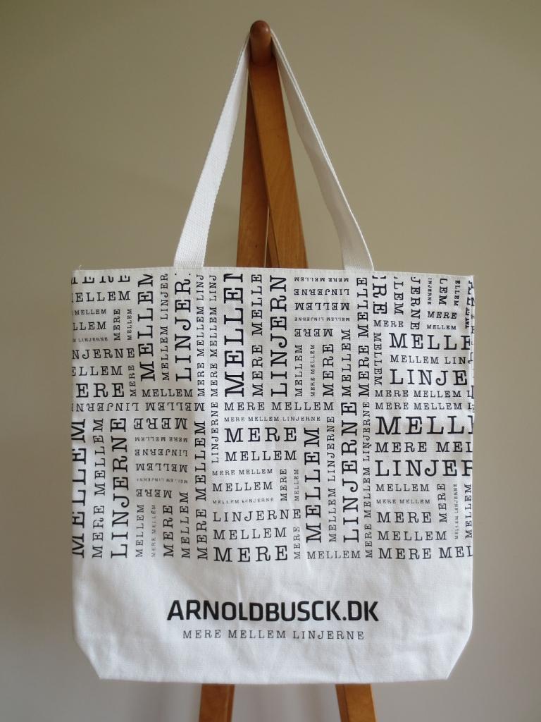 デンマークの書店、アーノルド・ブスク Arnold Busck のトートバッグ