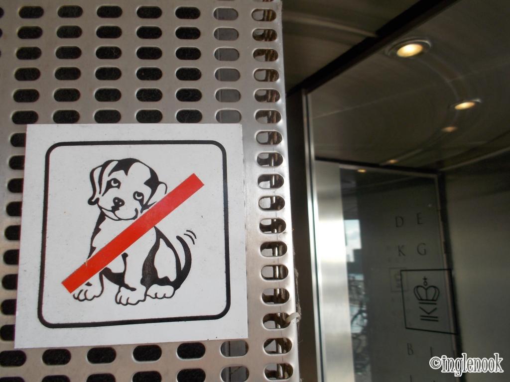 犬入館禁止 王立図書館 Det Kongelige Bibliotek