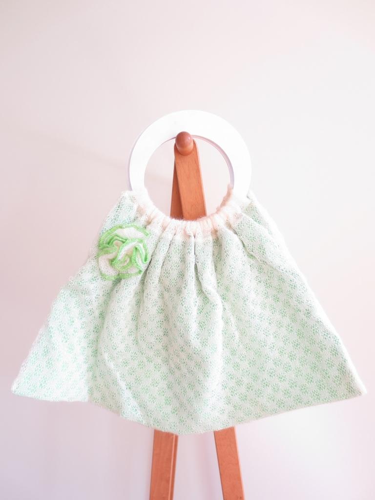 手編みのハンドバッグ ニットバッグ イギリス ハンドメイド