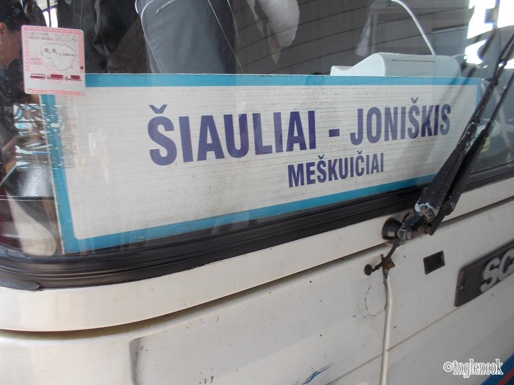 十字架の丘行きの路線バス