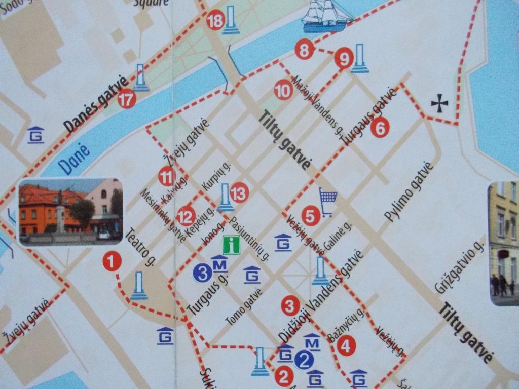 クライペダ 地図 旧市街