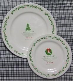 クリスマスのお皿