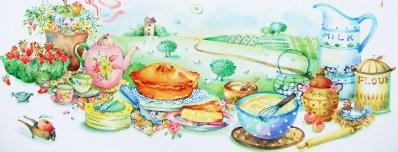 お菓子基本大百科のイラスト
