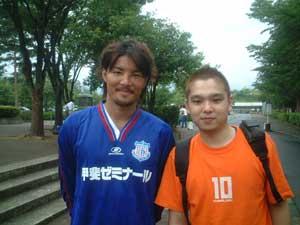 ヴァンフォーレ甲府 奈須選手と記念撮影