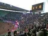 セレッソ大阪サポーターの応援風景
