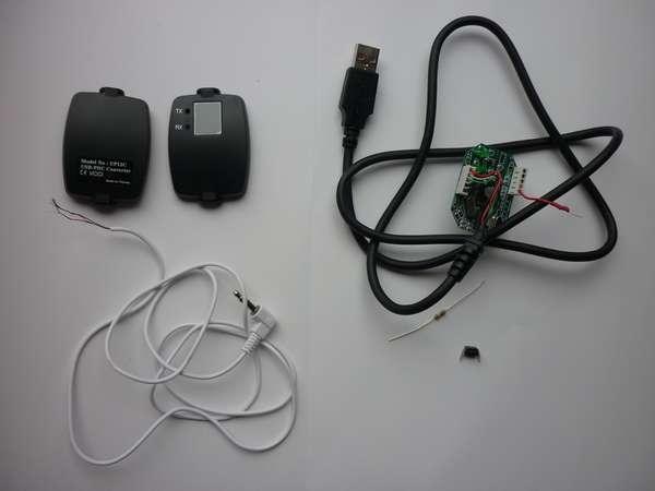 USB-RS232C-CW インターフェイス作成しました 部品写真