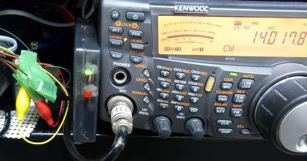TS2000で実験成功 しかし配線はワニクチ
