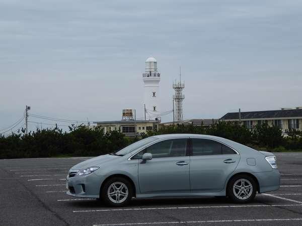 犬吠埼ホテル駐車場から見た灯台