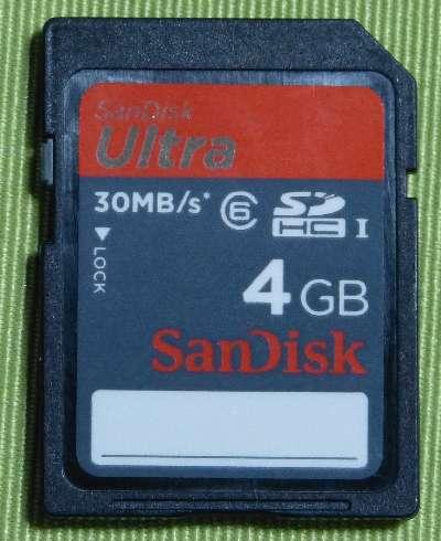 SandiskUltra4GB SD