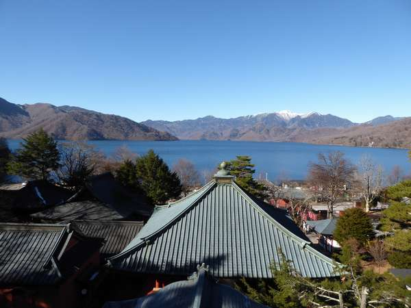 中善寺から見た中禅寺湖
