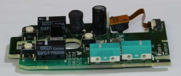 側面の緑色のマイクロスイッチを交換します