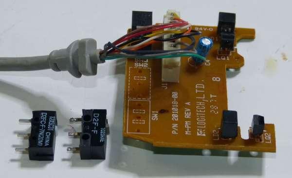 PC-9821マウスの修理