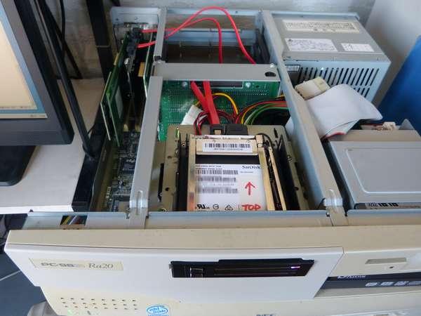 PC9821Ra20 SanDiskSSD ガチャポンパッ