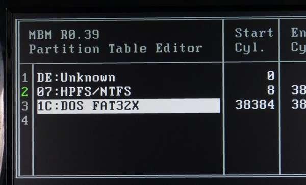 03 PGUP-DNキーを押してFAT32Xにします