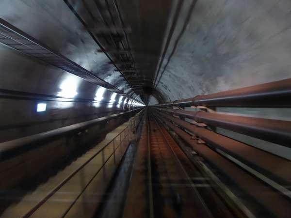 04 青函トンネル竜飛斜坑線作業坑ケーブルカー