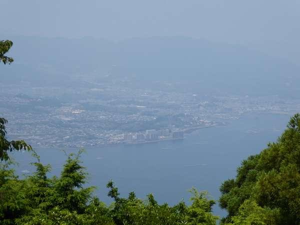 弥山展望台から広島市方面