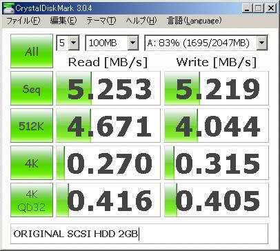 NEC純正SCSIはこの速度