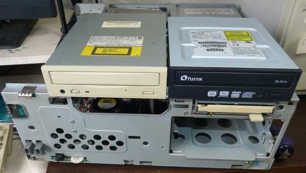 CD-ROMをDVD-RWに変更