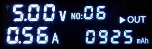 925mAh充電で青ランプ点滅