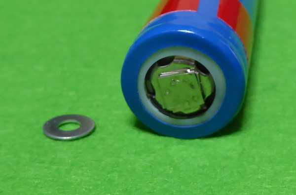電池フラットトップからボタントップ?への加工
