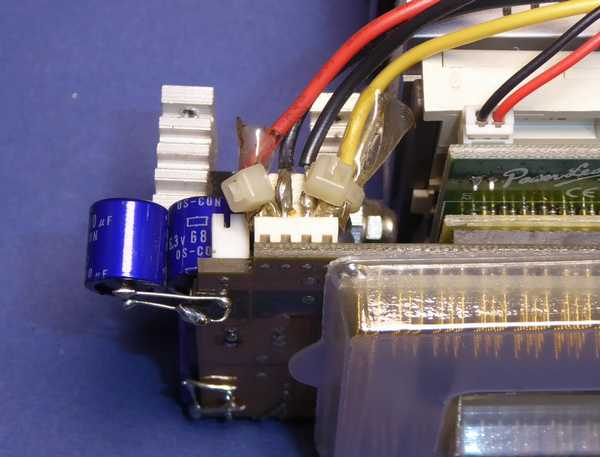 PL-Pro2の電源コネクタが焼損したのでハンダ直付けにしています