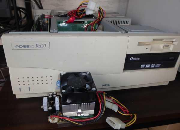PL-Pro2 PL-370T Celeron1400 を組み立てた下駄を PC-9821Ra20 にセット