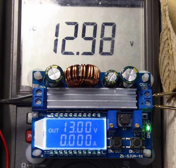 テスターと比較しても良好に電圧表示