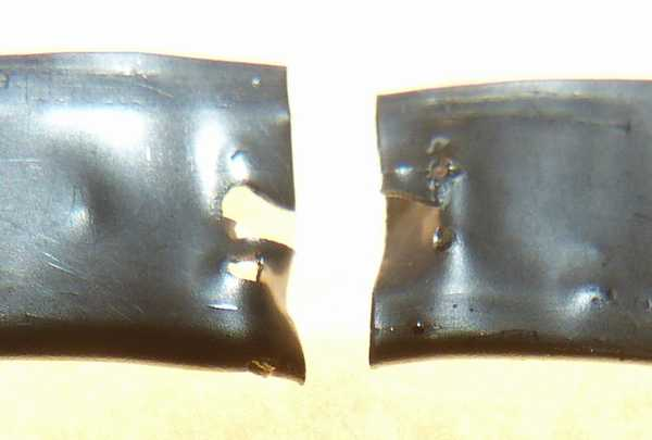 溶接剥離テスト 0.2mmステンレス板