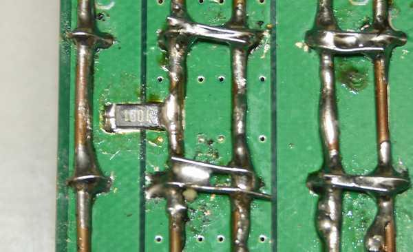 隙間のブリーダー抵抗(1kΩ)