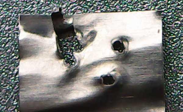 タブ引き剥がしテスト溶接電圧15V