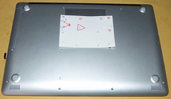 ネジ位置のメモ、赤三角DVD、赤☆超短ネジ、赤丸抜け止ネジ