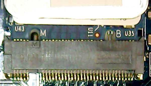 DEL M2コネクタ Bkey無 Mkey有、 SSD Bkey有 Mkey有