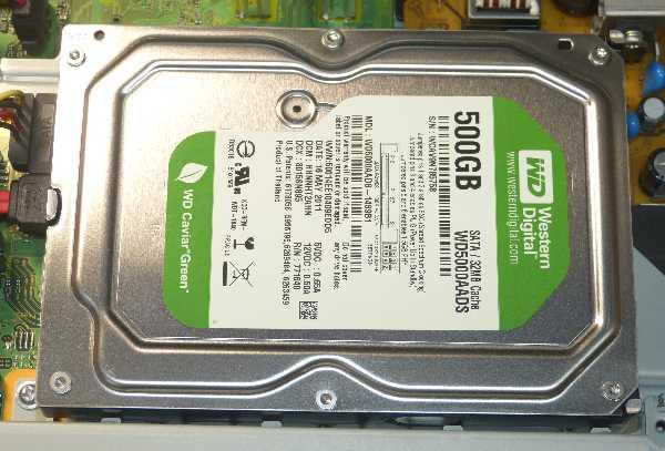 入っていたHDDは、WD-Green