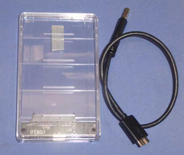 1 価格597円の透明な 2.5インチ HDDケース